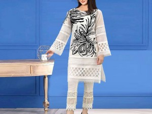 Handwork Embroidered Tissue Party Dress with Inner Price in Pakistan