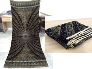Ladies Printed Velvet Shawl - Black Price in Pakistan