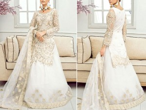 Heavy Embroidered Organza Bridal Lehenga Dress 2021 with Net Dupatta Price in Pakistan