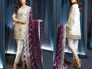 Heavy Embroidered Fancy Chiffon Wedding Dress Price in Pakistan