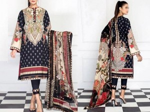 Digital Print Airjet Lawn Suit with Chiffon Dupatta Price in Pakistan