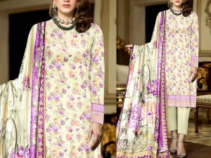 3-Piece Printed Lawn Dress with Lawn Dupatta