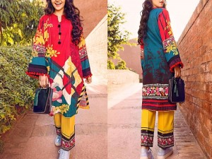 2-Pcs Unstitched Printed Lawn Dress 2021 Price in Pakistan
