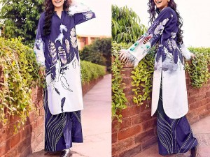 2-Pcs Unstitched Printed Lawn Suit 2021 Price in Pakistan