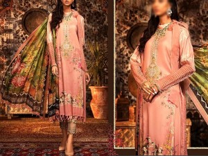 Embroidered Swiss Lawn Suit with Swiss Lawn Dupatta Price in Pakistan