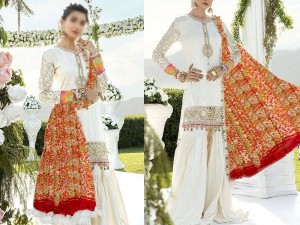 Embroidered White Lawn Dress 2021 with Chiffon Dupatta Price in Pakistan