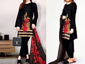 Full Front Heavy Embroidered Lawn Dress 2021 with Chiffon Dupatta Price in Pakistan