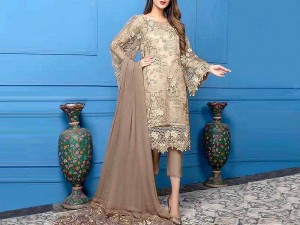Luxury Embroidered Net Wedding Dress with Inner Price in Pakistan
