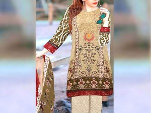 Embroidered Lawn Suit 2021 with Chiffon Dupatta