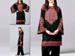2-Pcs Sequins Embroidered Lawn Suit 2021 Price in Pakistan