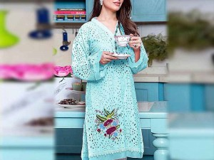 2-Pcs Schiffli Embroidered Lawn Suit 2021 with Embroidered Trouser Price in Pakistan
