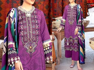 Embroidered Lawn Suit 2021 with Lawn Dupatta Price in Pakistan