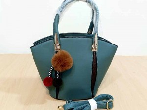 Elegant Women's Satchel Bag with Hanging Pom Pom Price in Pakistan