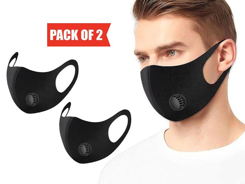 Pack of 2 Reusable Sports Face Masks with Filter Price in Pakistan