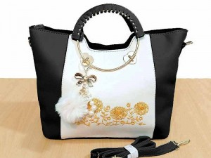 High Quality Ladies Tote Bag with Hanging Charm Price in Pakistan