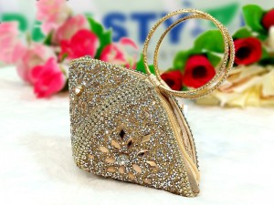 Triangle Shape Fancy Clutch Purse for Girls Price in Pakistan