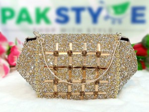Fancy Golden Evening Clutch Bag for Wedding Price in Pakistan