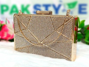 Geometric Pattern Diamante Crystal Bridal Clutch Bag Price in Pakistan