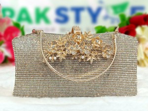 Women's Crystal Evening Clutch Bag for Wedding Functions Price in Pakistan