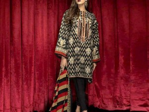 Heavy Embroidered Lawn Dress 2021 with Chiffon Dupatta Price in Pakistan