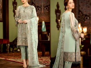 Elegant Heavy Embroidered Formal Chiffon Dress 2021 with Chiffon Dupatta Price in Pakistan