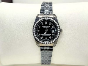 Elegant Lady-Datejust Black Women's Watch Price in Pakistan