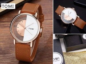 Original Tomi Leather Strap Men's Watch with Gift Box Price in Pakistan