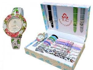 11 in 1 Floral Pattern Interchangeable Watch Gift Set Price in Pakistan
