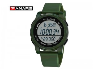 Original PANARS Digital Sports Watch - Green Price in Pakistan
