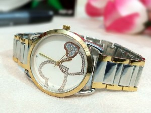 Elegant Heart Dial Ladies Two-Tone Watch Price in Pakistan