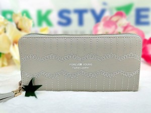 Ladies Clutch Wallet - Grey