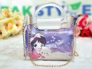 Disney Princess Transparent Jelly Bag for Girls