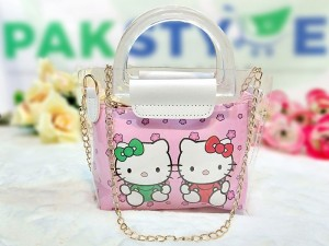 Hello Kitty Transparent Jelly Bag for Girls