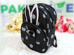 Polka Dots Mini Backpack for Kids - Black
