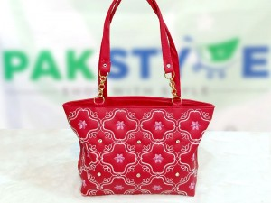 Women's Fashion Handbag - Red