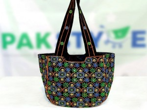 Ladies Embroidered Shoulder Fabric Bag