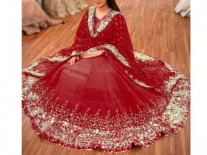 Mirror Work Heavy Embroidered Masoori Dress Price in Pakistan