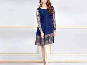 2-Pcs Embroidered Lawn Dress 2021 with Embroidered Trouser