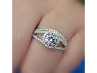 Chic Silver Ring + 1 Free Ring  in Pakistan
