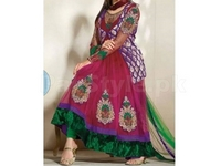 4/5 Piece Embroidered Net Suit in Pakistan