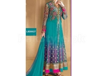 4 Piece Embroidered Chiffon/Net Suit in Pakistan