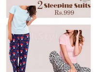 2 Ladies Sleeping Suits Bundle Offer in Pakistan