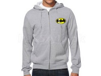 Batman Logo Zip Up Hoodie - Grey in Pakistan