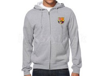 FCB Logo Zip Up Hoodie - Grey in Pakistan