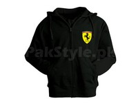 Ferrari Logo Zipper Hoodie - Black in Pakistan