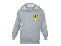 Ferrari Logo Zipper Hoodie - Grey in Pakistan