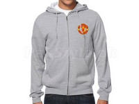 Manchester Logo Zip Up Hoodie - Grey in Pakistan