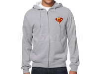 Superman Logo Zip Up Hoodie - Grey in Pakistan