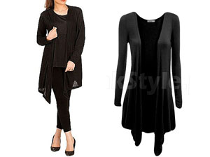 Women's Black Cotton Jersey Shrug Price in Pakistan