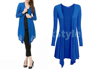 Ladies Blue Cotton Jersey Shrug Price in Pakistan